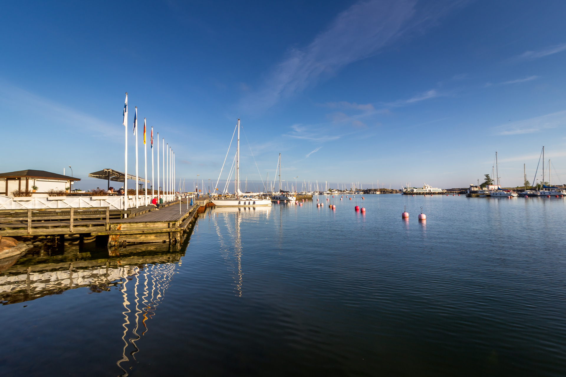 Eastern harbour and the yacht club (HSF) pier