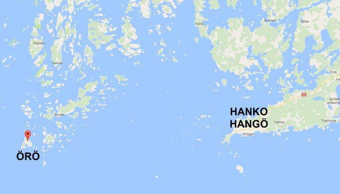 Hanko Örö Cruise Map Villa Maija
