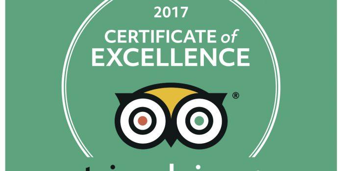 Hotel Villa Maija TripAdvisor Certificate of Excellence 2017